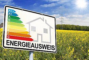 Schild Energieausweis